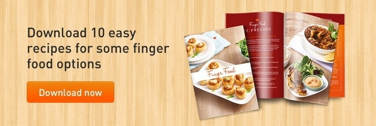 Download 10 easy recipes for some finger food options