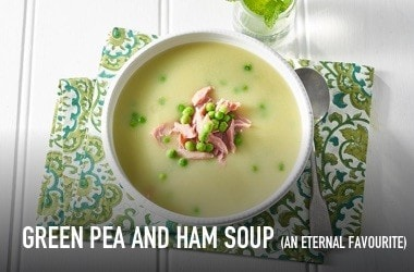 Green pea and ham soup (an eternal favourite)