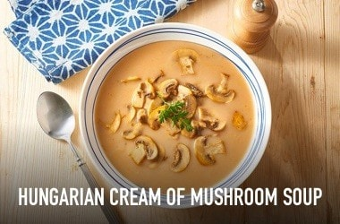 Hungarian cream of mushroom soup
