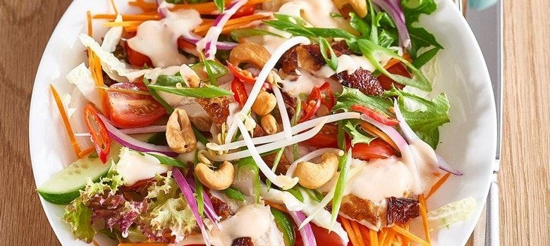 Asian Chicken Salad with Sweet Chili Lime Dressing