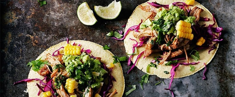 Tacos with Pulled Pork and Grilled Pineapple
