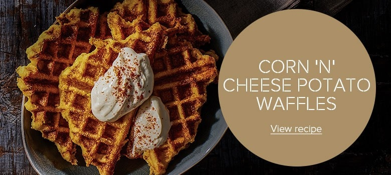 Corn 'N' Cheese Potato Waffles