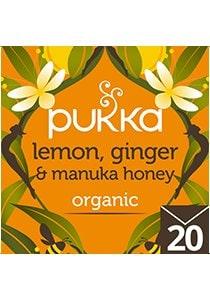 PUKKA Lemon Ginger and Manuka Honey Tea 20's -