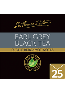 SIR THOMAS LIPTON Earl Grey 25's - Individually sealed for a premium and fresher tea.