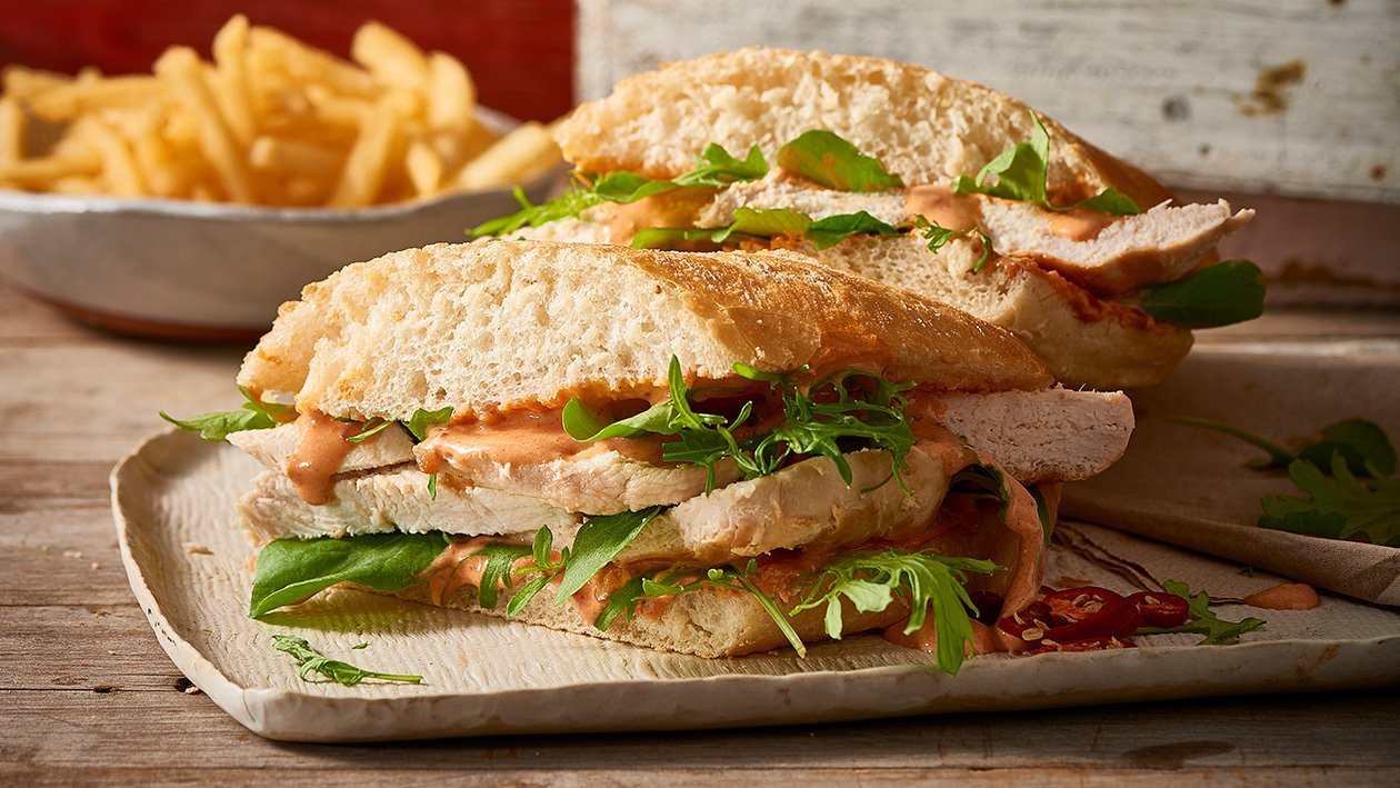 Chicken and Peri Peri Ciabatta Roll – Recipe