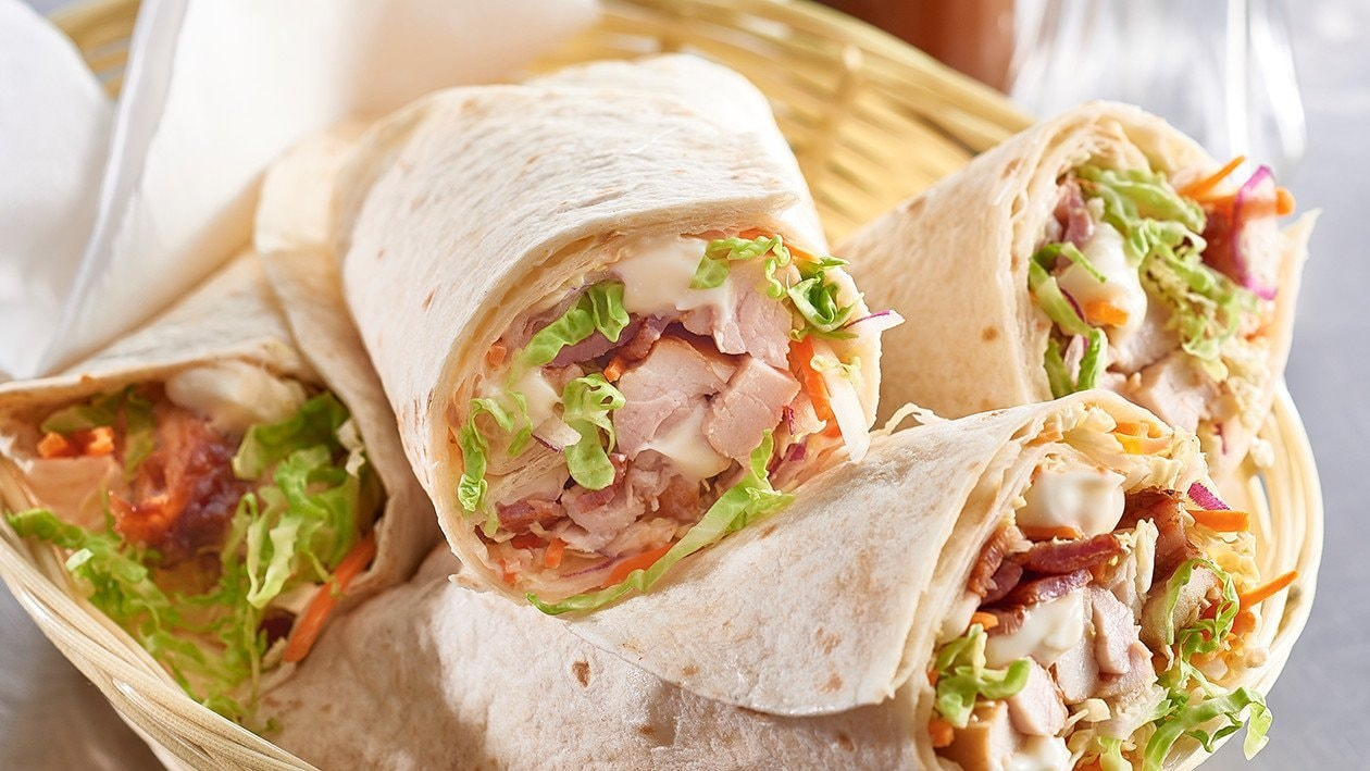 BBQ Buffalo Chicken Wrap with Bacon and Slaw – Recipe