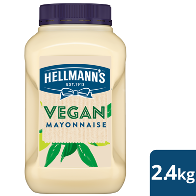 HELLMANN'S Vegan Mayonnaise 2.4 kg - With the same great taste, texture, & quality as Hellmann's Real, this is a Vegan mayonnaise as it should be.