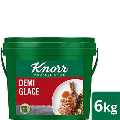 KNORR Demi Glace Gluten Free 6kg - Gluten-free with distinct notes of Australian roasted beef & red wine, this decadent Demi Glace sauce is set to impress with your signature touch.