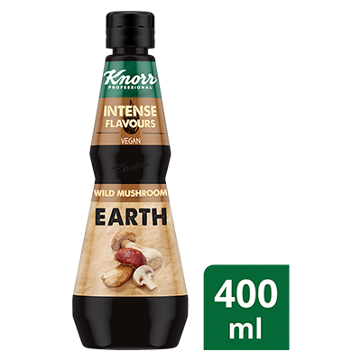 KNORR Intense Flavours Wild Mushroom Earth 400 ml - Balanced richness of mixed Boletus and Porcini mushrooms for a complex, full-bodied earthiness that'll take shrooms-load to achieve.