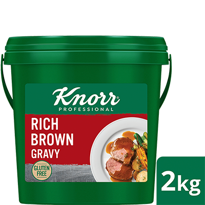 KNORR Rich Brown Gravy Gluten Free 2kg - KNORR Rich Brown Gravy delivers a smooth textured sauce that holds well and has a premium, rich meaty taste.
